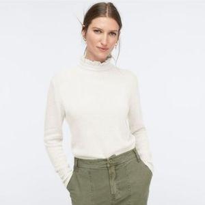 J. Crew Wool-blend Ruffle-neck Sweater NWT